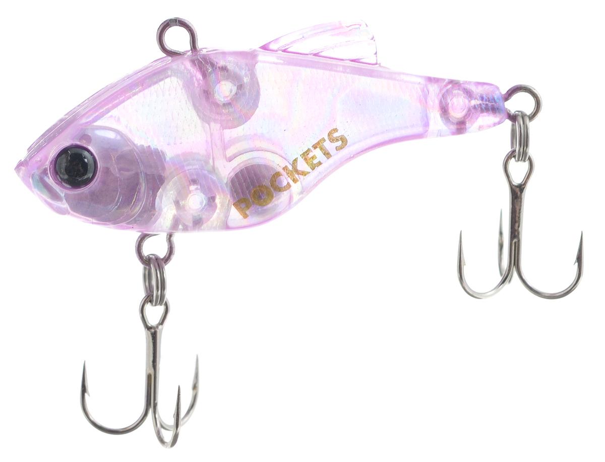 Воблер Maria Pockets Vib, тонущий, цвет: розовый, 4 см, 4,4 г