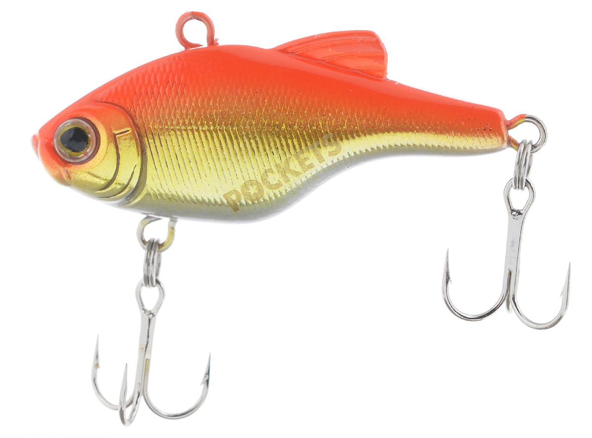 Воблер Maria Pockets Vib, тонущий, цвет: оранжевый, золотой, 4 см, 4,4 г