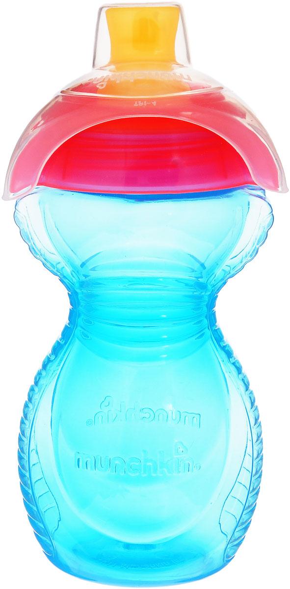 Munchkin Бутылочка-поильник Click Lock от 9 месяцев 296 мл цвет голубой