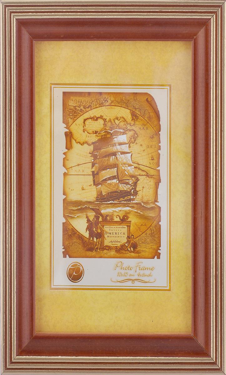 Фоторамка Pioneer Debora, цвет: золотистый, коричневый, 10 x 15 см6309185_золотистый, коричневыйФоторамка Debora выполнена в классическом стиле из натурального дерева и стекла, защищающего фотографию. Оборотная сторона рамки оснащена специальной ножкой, благодаря которой ее можно поставить на стол или любое другое место в доме или офисе. Также на изделие имеются два специальных отверстия для подвешивания. Такая фоторамка поможет вам оригинально и стильно дополнить интерьер помещения, а также позволит сохранить память о дорогих вам людях и интересных событиях вашей жизни.