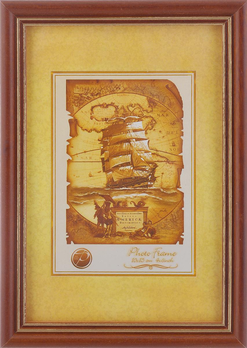 Фоторамка Pioneer Sandy, цвет: коричневый, золотистый, 10 см х 15 см фоторамка pioneer цвет красный 21 х 29 7 см 15797