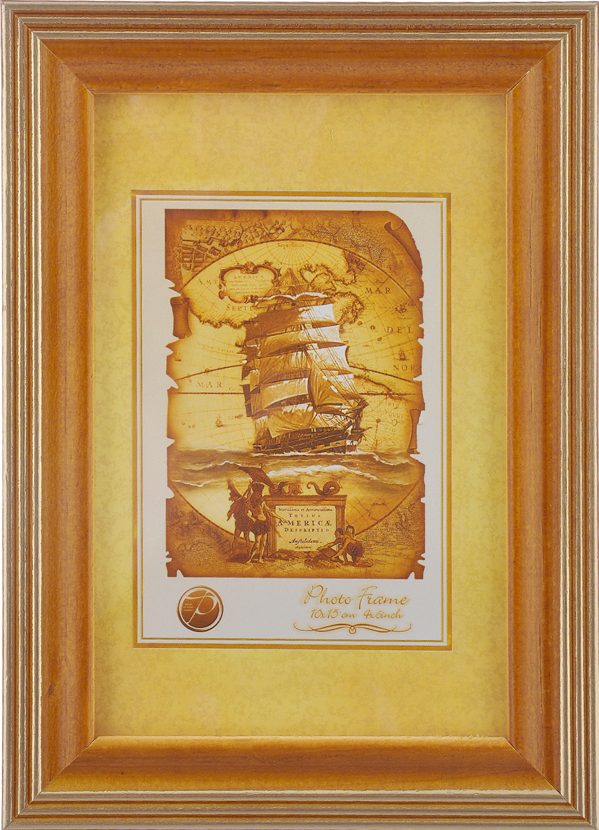 Фоторамка Pioneer Debora, цвет: золотистый, желтый, 10 x 15 см6309185_золотистый, желтыйФоторамка Debora выполнена в классическом стиле из натурального дерева и стекла, защищающего фотографию. Оборотная сторона рамки оснащена специальной ножкой, благодаря которой ее можно поставить на стол или любое другое место в доме или офисе. Также на изделие имеются два специальных отверстия для подвешивания. Такая фоторамка поможет вам оригинально и стильно дополнить интерьер помещения, а также позволит сохранить память о дорогих вам людях и интересных событиях вашей жизни.