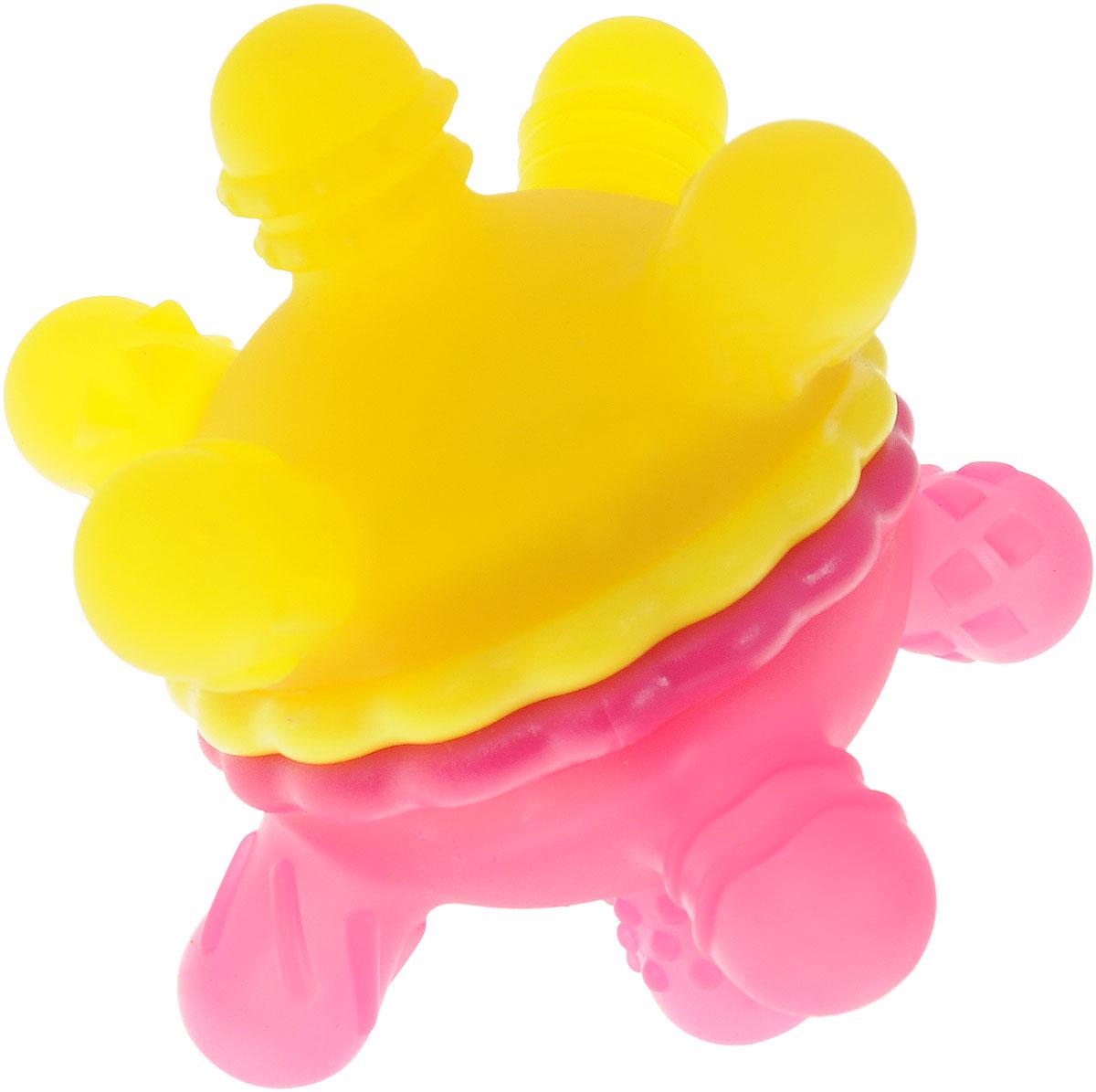Munchkin Игрушка-прорезыватель Мячик цвет розовый желтый munchkin прорезыватель охлаждающий ладошка цвет розовый