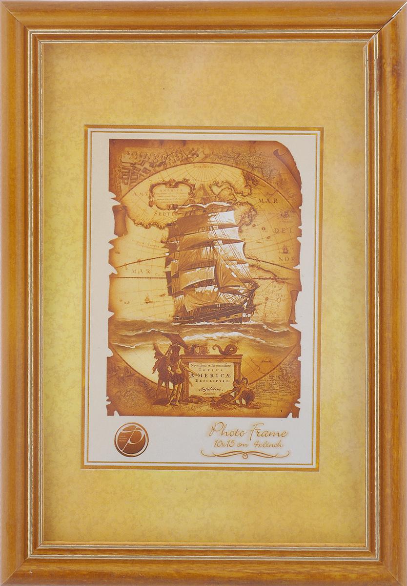 Фоторамка Pioneer Sandy, цвет: желтый, золотистый, 10 х 15 см,6280 005G_желтыйФоторамка Sandy выполнена в классическом стиле из натурального дерева и стекла, защищающего фотографию. Оборотная сторона рамки оснащена специальной ножкой, благодаря которой ее можно поставить на стол или любое другое место в доме или офисе. Также на изделие имеются два специальных отверстия для подвешивания. Такая фоторамка поможет вам оригинально и стильно дополнить интерьер помещения, а также позволит сохранить память о дорогих вам людях и интересных событиях вашей жизни.