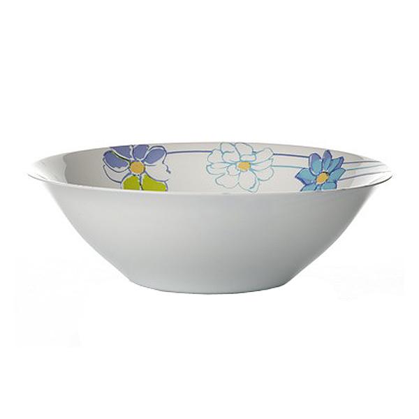 Салатник Luminarc Fresh Garden, цвет: белый, голубой, диаметр 27 см салатник luminarc fresh garden  цвет