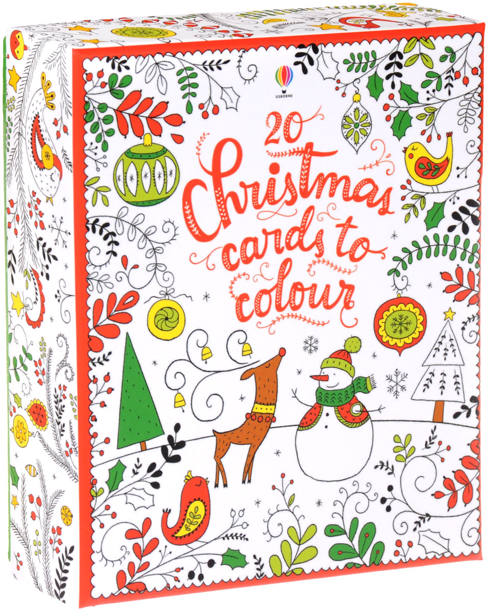 20 Christmas Cards to Colour christmas wonderland to colour