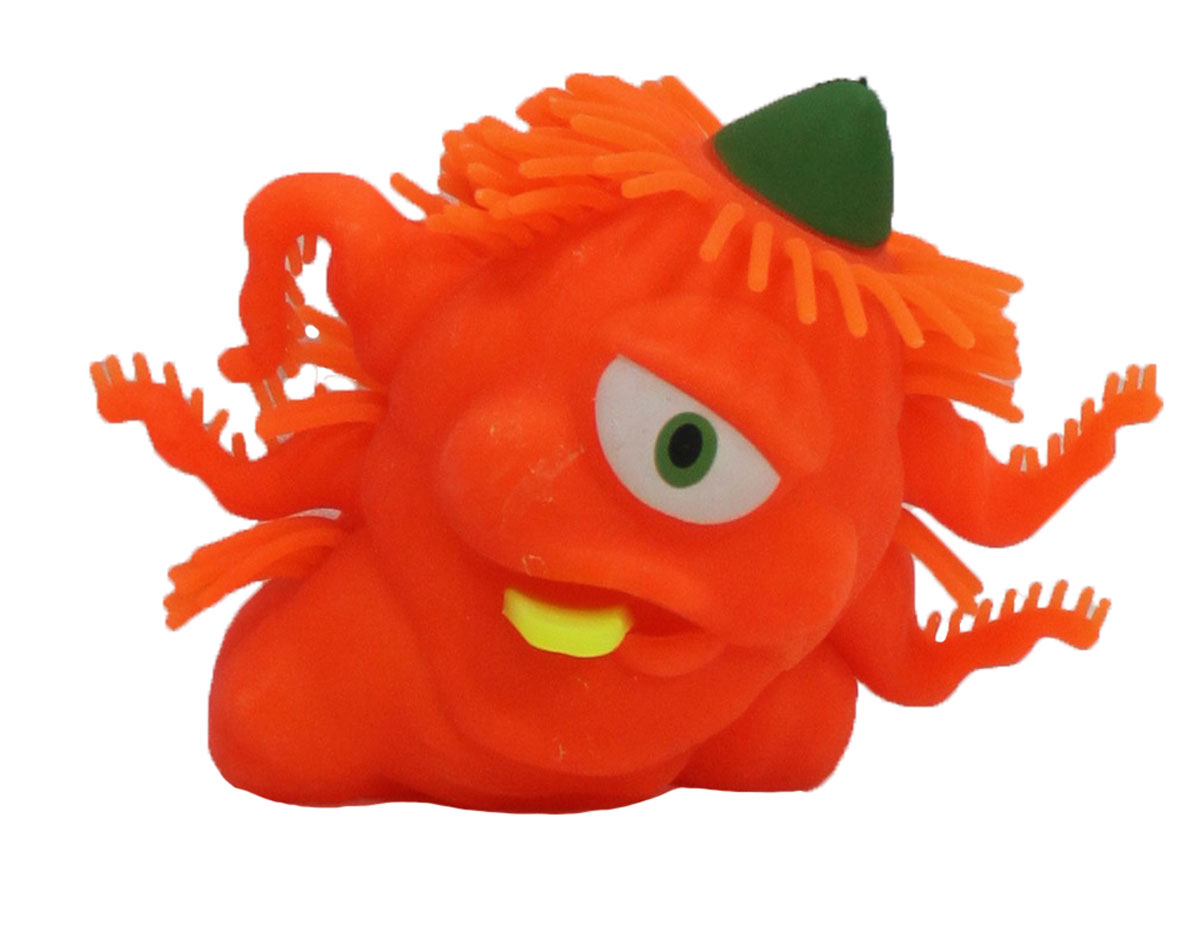1TOY Игрушка-антистресс Ё-Ёжик Инопланетянин одноглазый цвет оранжевый техника ё ёжик со светомт56556