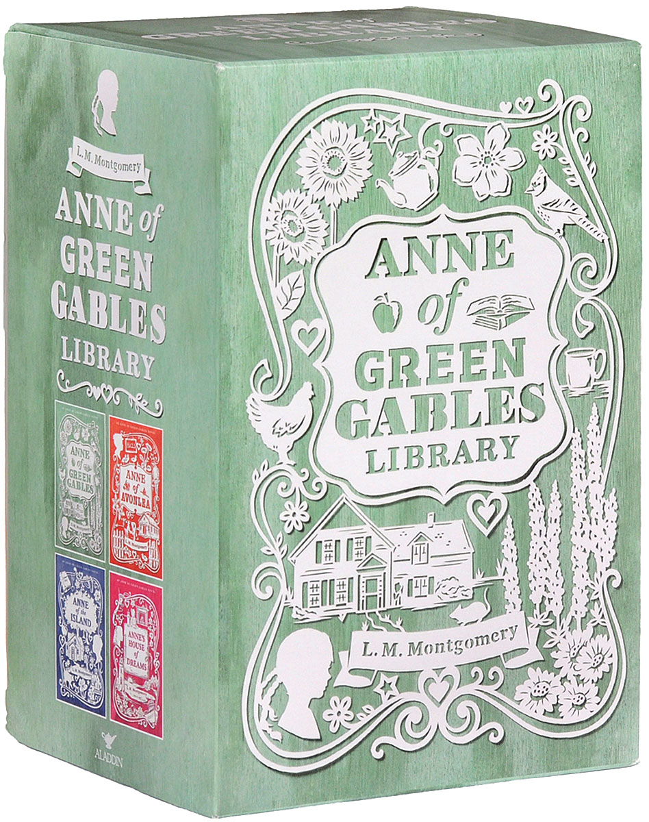 Anne of Green Gables Library Collection: 4 Books Box Set Pack (комплект) little library 6 books