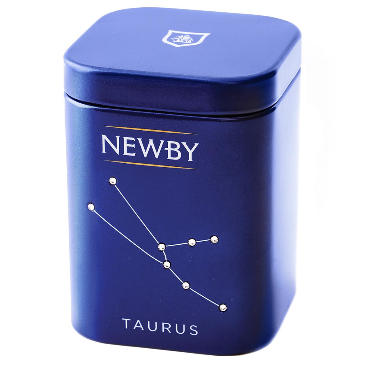 где купить  Newby Taurus English Breakfast подарочный набор листового чая, 25 г (ж/б)  по лучшей цене