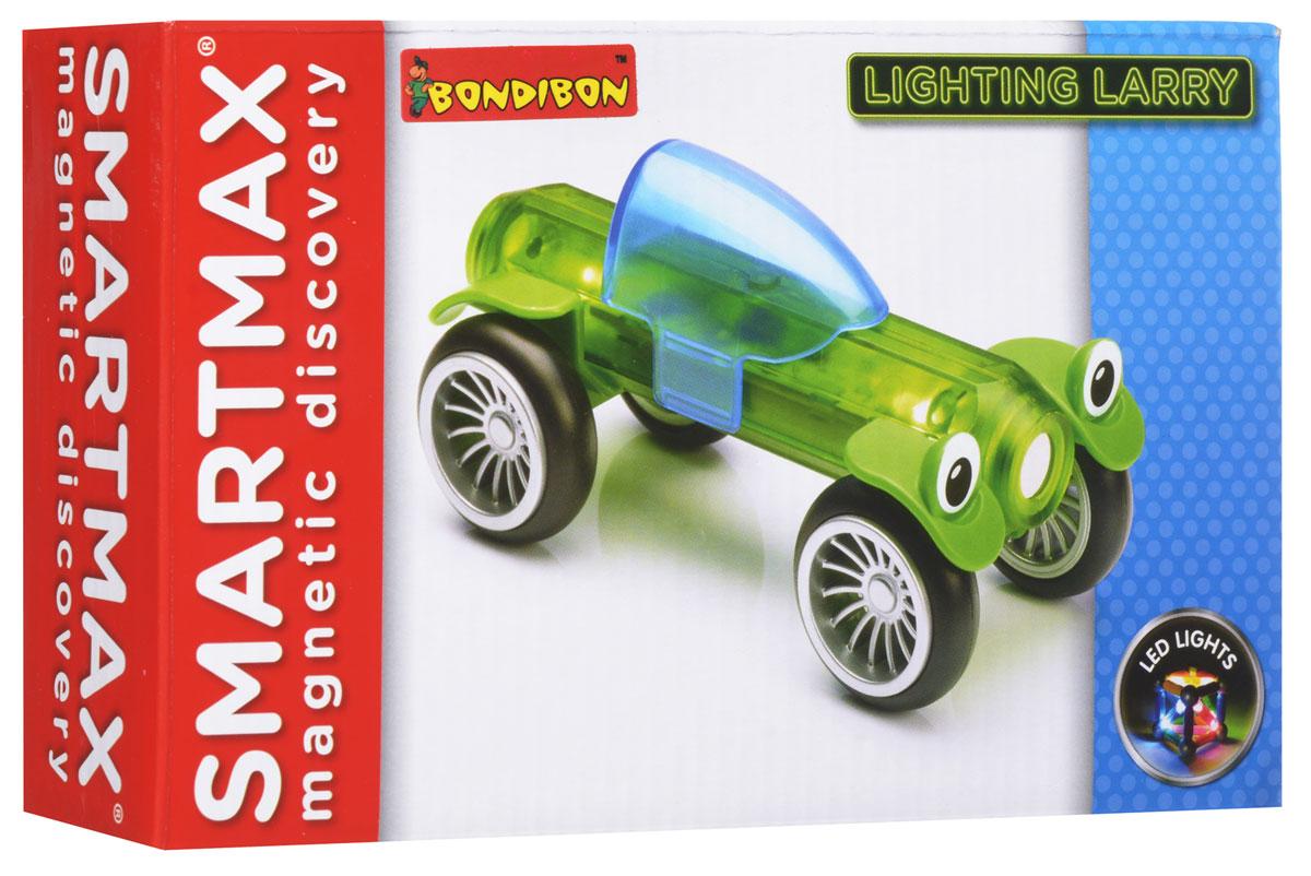 Bondibon Конструктор магнитный Smartmax Светящийся Ларри цвет зеленый конструктор bondibon грузовик своими руками bb1232