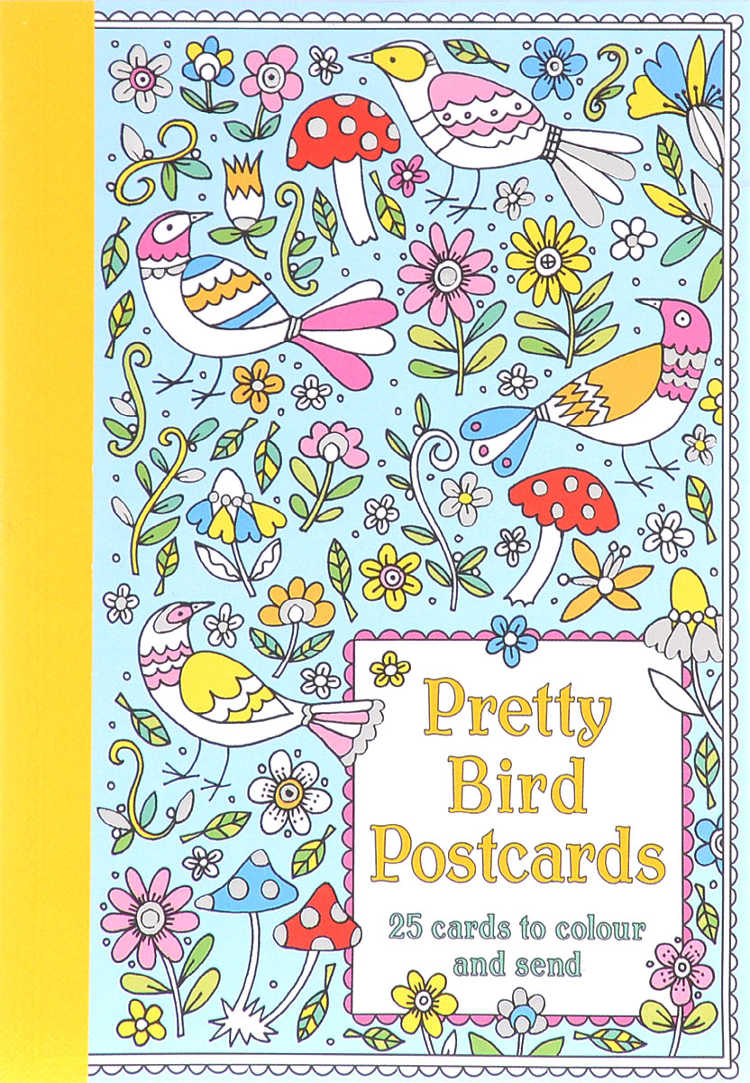 Pretty Bird Postcards: 25 Cards to Colour and Send 3d laser cut pop up greeting cards happy birthday postcards vintage chic retro peacock thank you gift message cards for girl