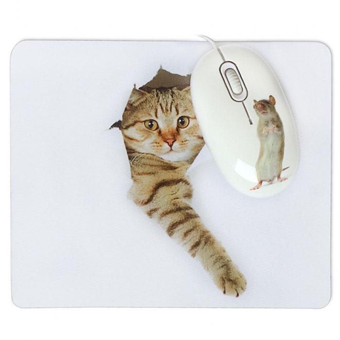 CBR Capture мышь + коврикCaptureЗа игрой котенка можно наблюдать бесконечно. Это зрелище прогоняет стресс, наполняет энергией, радостью. Комплект Capture с хулиганистым котом и озорной мышью, несомненно, сделает мир немножко добрее. В состав комплекта входит мягкий коврик на нескользящей резиновой основе с моющимся покрытием из натуральной ткани и мышь средних размеров (10 см в длину) с высокоточным сенсором 1200 dpi.