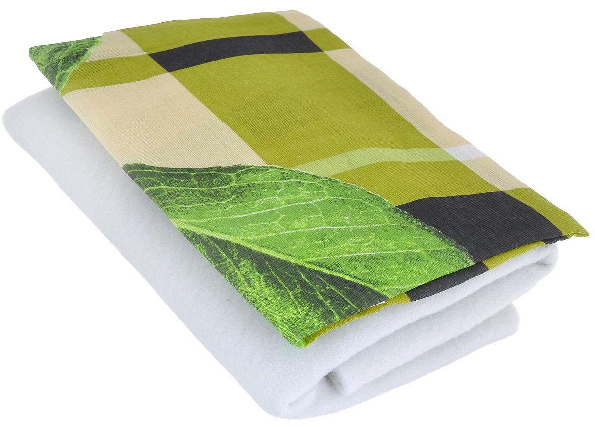 Чехол для гладильной доски Detalle, цвет: зеленый, желтый, салатовый, 125 см х 47 смЕ1301_зеленый, желтый, салатовыйЧехол для гладильной доски Detalle, выполненный из хлопка с подкладкой из мягкого войлокообразного полотна (ПЭФ), предназначен для защиты или замены изношенного покрытия гладильной доски. Чехол снабжен стягивающим шнуром, при помощи которого вы легко отрегулируете оптимальное натяжение чехла и зафиксируете его на рабочей поверхности гладильной доски.Из войлокообразного полотна вы можете вырезать подкладку любого размера, подходящую именно для вашей доски. Этот качественный чехол обеспечит вам легкое глажение. Он предотвратит образование блеска и отпечатков металлической сетки гладильной доски на одежде. Войлокообразное полотно практично и долговечно в использовании. Размер чехла: 125 см x 47 см.Максимальный размер доски: 120 см х 42 см.Размер войлочного полотна: 130 см х 52 см.