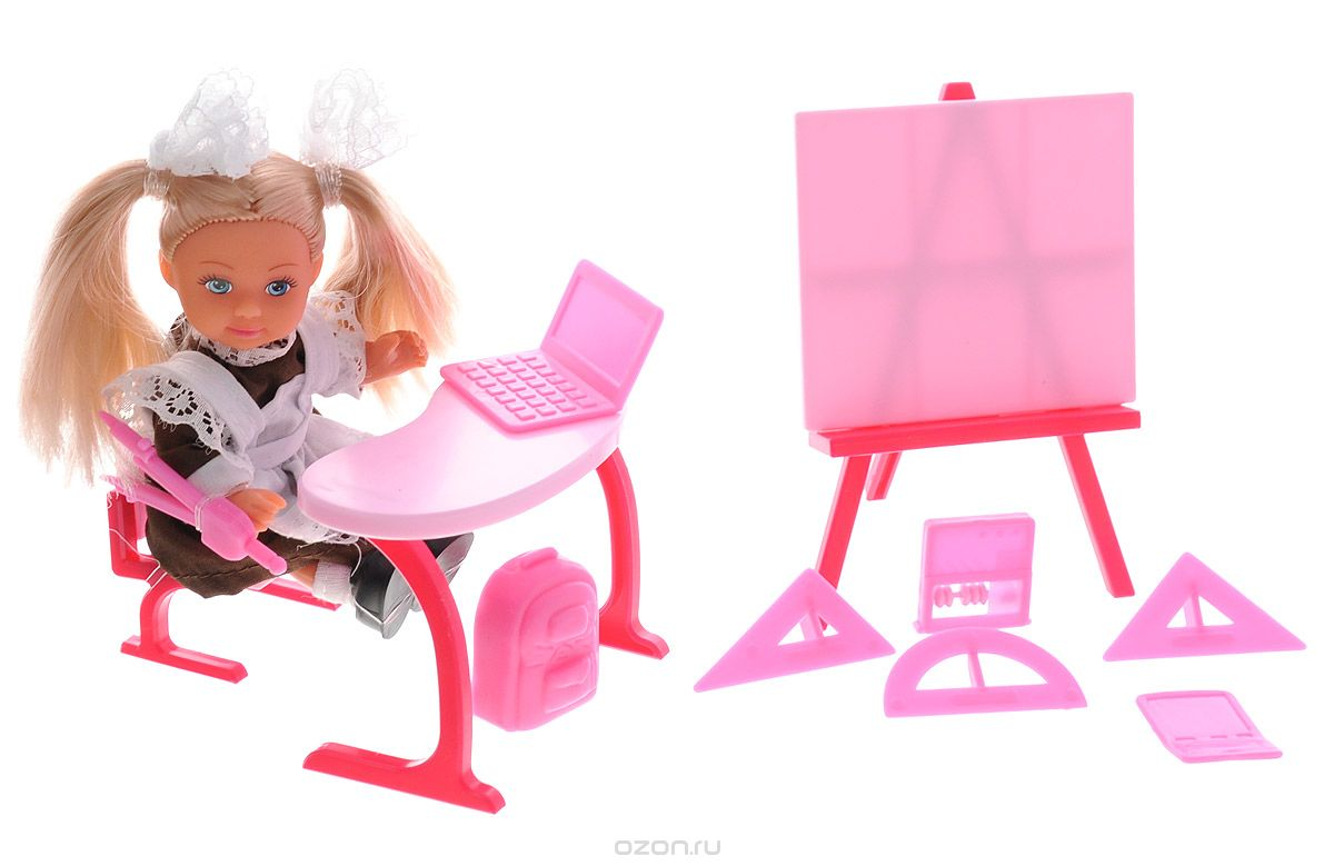 Simba Игровой набор Еви-школьница цвет малиновый simba игровой набор с мини куклой evi love fairy carriage