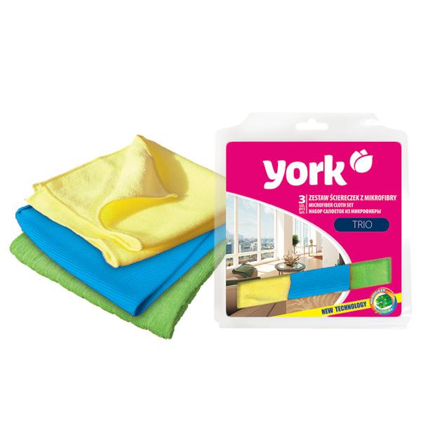 Набор салфеток из микрофибры York, 3 шт. 26112611Набор салфеток York выполнен из микрофибры. Микрофибра - это ткань из тонких микроволокон, которая эффективно очищает поверхности благодаря капиллярному эффектумежду ними. Такая салфетка может использоватьсякак для сухой, так и для влажной уборки. Деликатно очищает любые поверхности, не оставляя следов и разводов. Идеально подходит для протирки полированной мебели. Сохраняетсвои свойства после стирки.