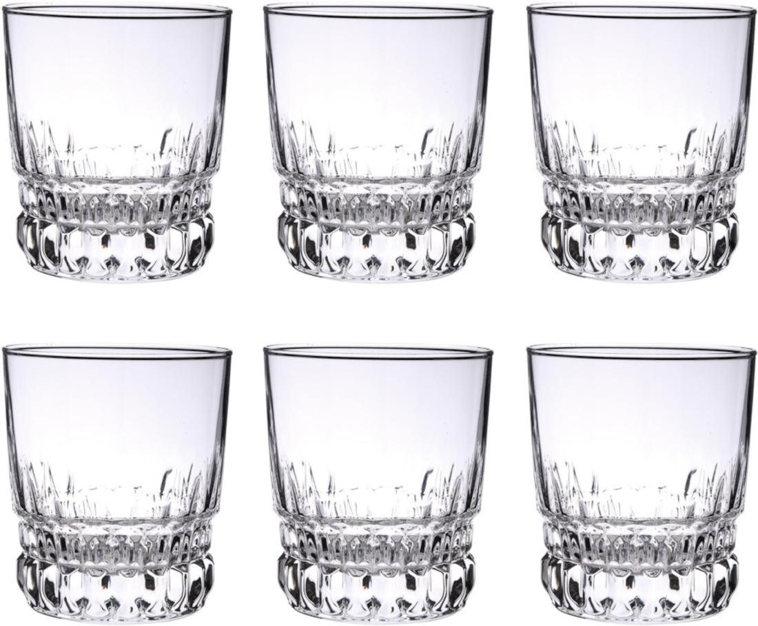 """Набор Luminarc """"Imperator"""" состоит из 6 граненых стаканов, выполненных из высококачественного стекла. Изделия имеют изысканный дизайн, утонченную форму и ослепительный блеск. Могут использоваться для алкогольных и безалкогольных напитков. Такой набор станет прекрасным дополнением сервировки стола, подойдет для ежедневного использования и для торжественных случаев. Можно мыть в посудомоечной машине. Диаметр стакана (по верхнему краю): 8 см. Высота стакана: 9,5 см."""