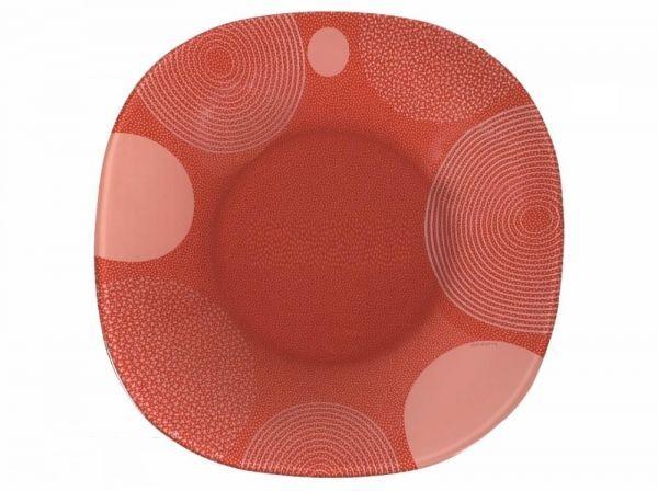 Тарелка Luminarc Constellation, 25 х 25 смG7800Плоская тарелка Luminarc Constellation придется по душе любителям ярких расцветок и современного стиля. Тарелка предназначена для подачи вторых блюд, а также может использоваться в качестве подстановочной посуды. Необычный дизайн и красочная расцветка привлекут внимание к поданному блюду, а также позволят тарелке стать сочной изюминкой сервировки. Тарелка, изготовленная из качественного ударопрочного стекла, надолго сохранит первоначальный внешний вид.Ее можно мыть в посудомоечной машине и использовать в микроволновой печи.