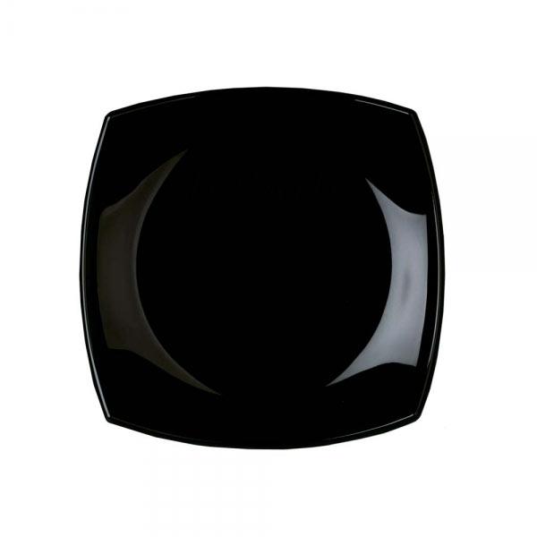 Тарелка десертная Luminarc Quadrato, цвет: черный, 19 х 19 смH3670Квадратная десертная тарелка черного цвета из серии Luminarc Quadrato выполнена из ударопрочного, закаленного стекла, устойчива к резким перепадам температуры. Пригодна для использования в посудомоечной машине и СВЧ. Тарелка используется для подачиразличных десертов, печенья, кусочков торта, конфет, фруктов. Благодаря оригинальному дизайнерскому исполнению, будет смотреться на вашем столе очень солидно.