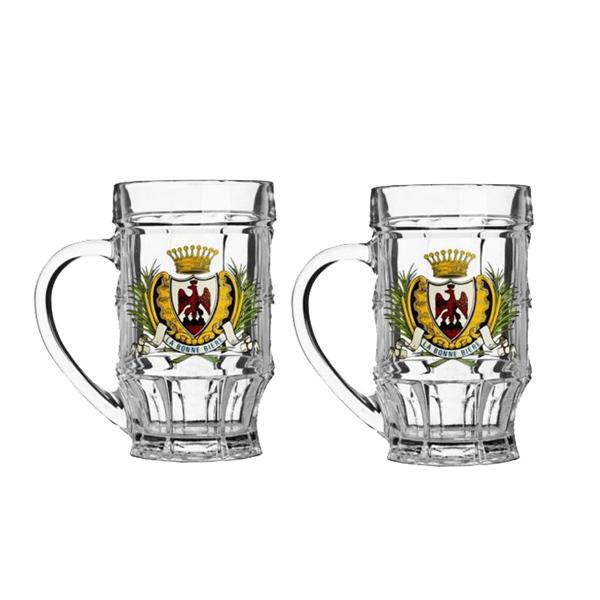 Набор кружек для пива Luminarc Мюнхен, 500 мл, 2 штH5621Набор Luminarc Мюнхен состоит из двух кружек,выполненных из упрочненного стекла. Кружкипредназначены для подачи пива. Они сочетают всебе элегантный дизайн и функциональность. Граникружек подчеркнут цвет напитка, а толщина стенокпоможет сохранить пиво прохладным. Благодарятакому набору кружек пить напитки будет ещеприятнее. Можномыть в посудомоечной машине.