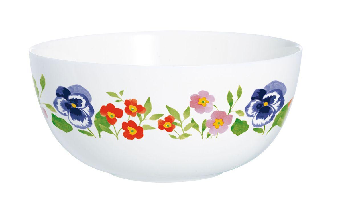 Салатник Luminarc Magda, диаметр 12,3 смH8581Салатник Luminarc Magda, изготовленный из высококачественного стекла, прекрасно впишется в интерьер вашей кухни и станет достойным дополнением к кухонному инвентарю. Салатник оформлен ярким рисунком. Такой салатник не только украсит ваш кухонный стол и подчеркнет прекрасный вкус хозяйки, но и станет отличным подарком.Диаметр по верхнему краю: 12,3 см.Высота салатника: 5,5 см.