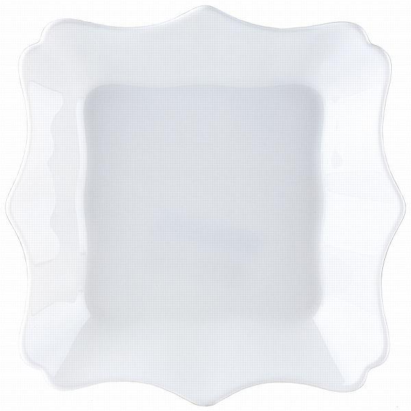 Тарелка глубокая Luminarc Authentic, цвет: белый, 20 х 20 смJ1342Глубокая квадратная тарелка из серии Luminarc Authentic выполнена из ударопрочного стекла, устойчива к резким перепадам температуры. Служит для подачи первых блюд и вмещает 450 мл жидкости (до самого края). Комфортно в тарелку помещаются 3 половника супа, при этом она не будет заполнена до самого края. Подходит для использования в посудомоечной машине и СВЧ.Размер тарелки: 20 х 20 см.
