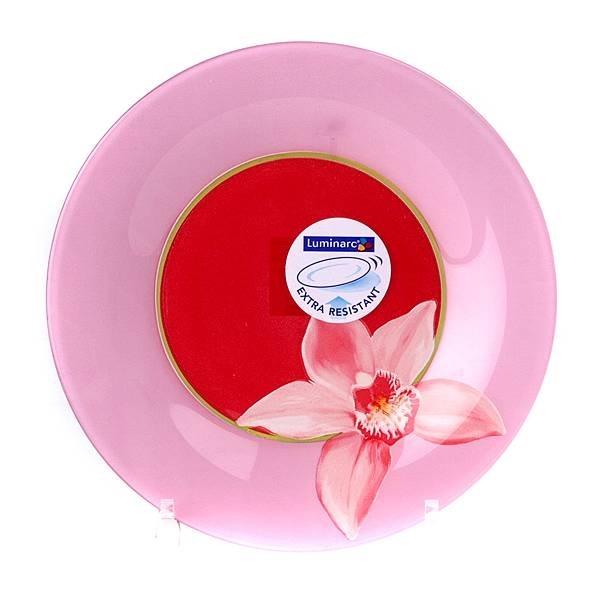 Тарелка десертная Luminarc Red Orchis, диаметр 19,5 смJ1356Десертная тарелка Luminarc Red Orchis, диаметром 19,5 см, изготовлена из ударопрочного стекла, устойчивого к резким перепадам температуры. Цвет и рисунок защищены с помощью специальных технологий, именно поэтому тарелку можно смело мыть в посудомоечной машине. Тарелка предназначена для сервировки десерта. Благодаря оригинальному дизайну и нежному цветочному декору, тарелка станет достойным украшением вашего стола.