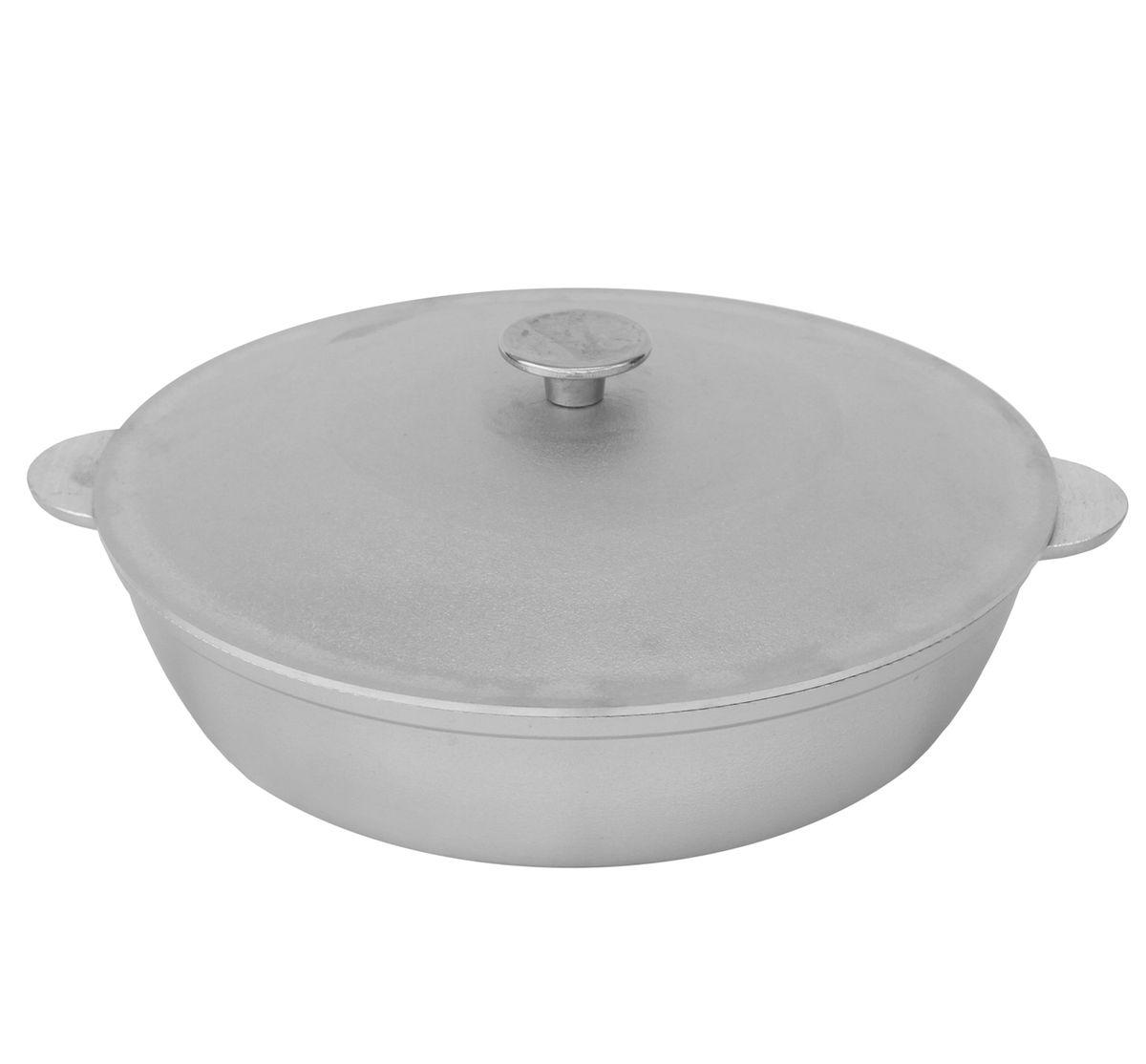 Сковорода БИОЛ с крышкой, с 2 ручками. Диаметр 36 смА363Сковорода БИОЛ, изготовленная из литого алюминиевого сплава, прекрасно подходит для приготовления повседневных блюд. Гладкая поверхность обеспечивает легкость ухода за посудой. Изделие оснащено крышкой и двумя ручками.Подходит для газовых и электрических плит.Диаметр сковороды (по верхнему краю): 36 см.Высота стенки: 9 см.Ширина сковороды (с учетом ручек): 42 см.Диаметр дна: 27 см.