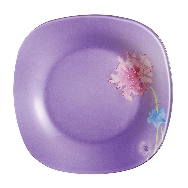 """Десертная тарелка Luminarc """"Angel Purple"""", декорированная изображением цветка, изготовлена из ударопрочного стекла, которое в 2-3 раза прочнее, чем стекло той же толщины других производителей. Изделие устойчиво к повреждениям и истиранию, в процессе эксплуатации не впитывает запахи и сохраняет первоначальные краски. Посуда Luminarc обладает не только высокими техническими характеристиками, но и красивым эстетичным дизайном. Luminarc - это современная, красивая, практичная столовая посуда.Можно использовать в СВЧ и посудомоечной машине."""