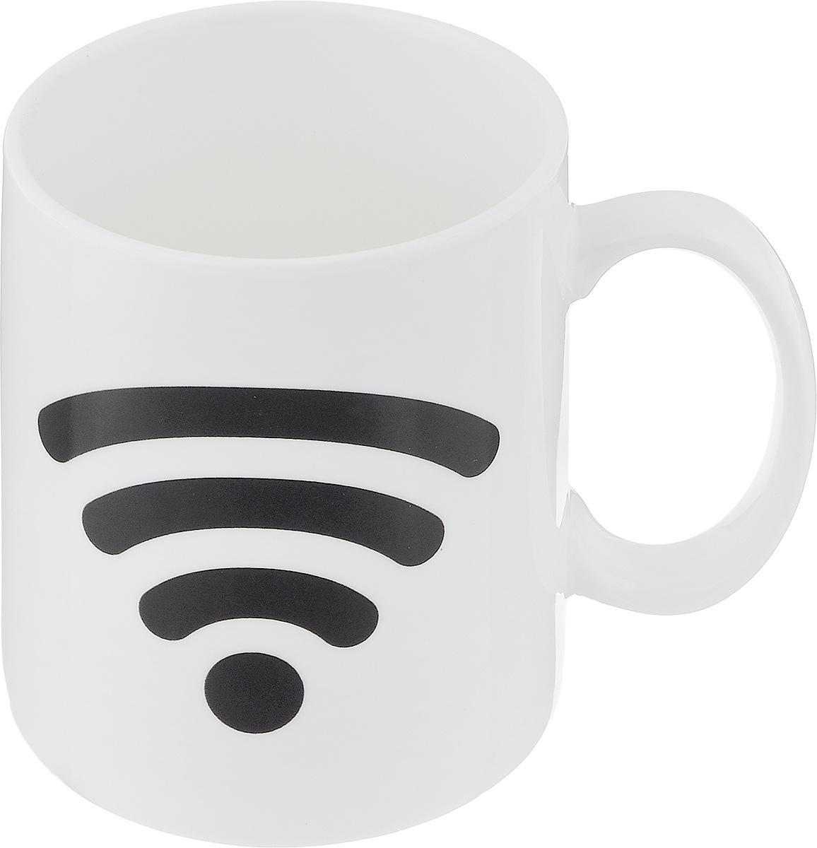 Кружка-хамелеон Эврика Включи Wi-Fi, 300 мл96304Кружка-хамелеон Эврика Включи WiFi выполнена извысококачественной керамики. По мере наполнения, шкалазарядки повышается. В холодном состоянии на кружкенарисованашкала Wi-Fi. Если в нее налить горячий напиток, то рисунокменяет цвет.Такой подарок станет не только приятным, но и практичнымсувениром: кружка станет незаменимым атрибутом чаепития, аоригинальный дизайн вызовет улыбку. Высота кружки: 9,5 см. Диаметр (без учета ручки): 8 см.