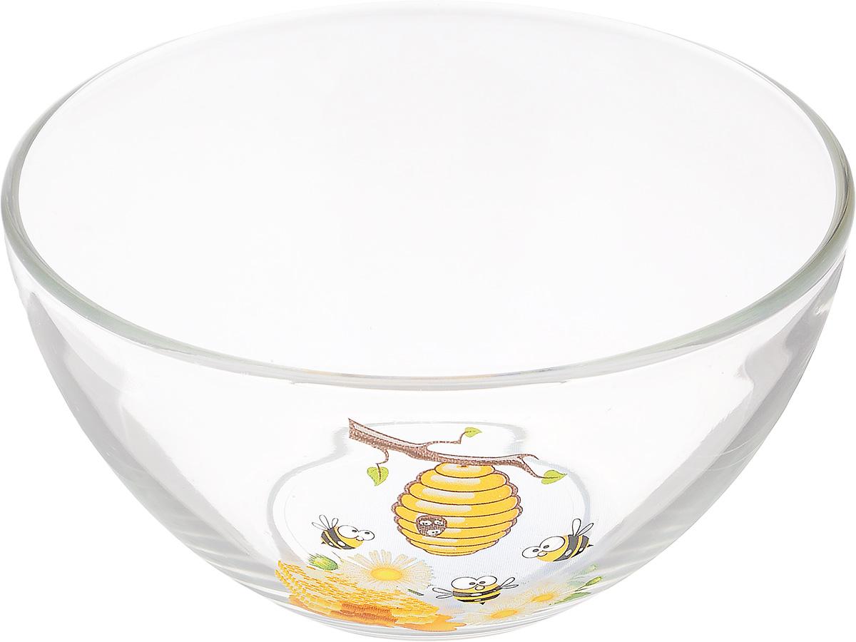 Салатник OSZ Медовая, диаметр 15 см09С1425 МЕДОВАЯСалатник OSZ Медовая изготовлен из бесцветного стекла и украшен ярким рисунком. Идеально подходит для сервировки стола.Салатник не только украсит ваш кухонный стол и подчеркнет прекрасный вкус хозяйки, но и станет отличным подарком. Диаметр салатника (по верхнему краю): 15 см. Диаметр основания: 7 см. Высота салатника: 7,5 см.
