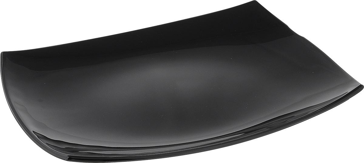 Блюдо Luminarc Quadrato Black, 35 см х 25,5 смD6408Блюдо Luminarc Quadrato Black изготовлено изударопрочного стекла. Изделие выполнено квадратной формы.Блюдо Luminarc доставит истинное удовольствие ценителям прекрасного. Яркий дизайн, несомненно, придется вам по вкусу. Можно использовать в микроволновой печи и мыть в посудомоечной машине. Размер блюда (по верхнему краю): 35 см х 25,5 см. Высота блюда: 4 см.