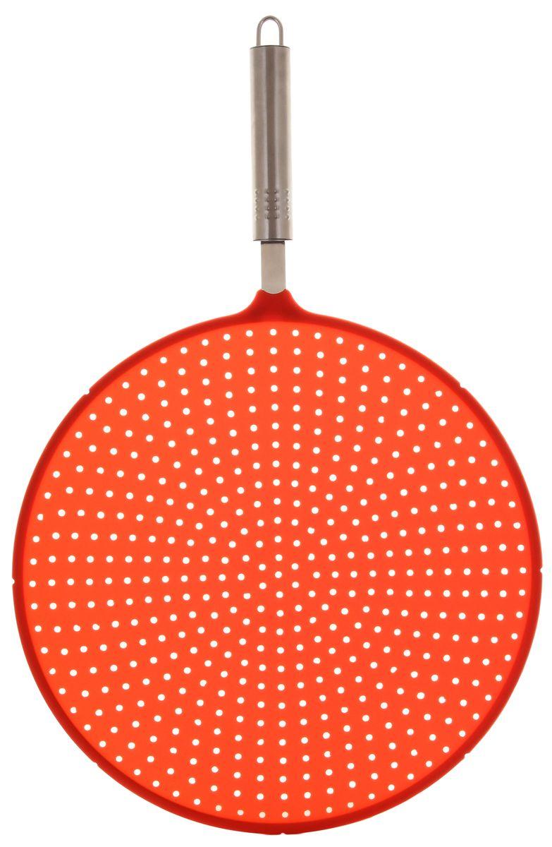 Антиразбрызгиватель для сковороды Elan Gallery, цвет: красный, диаметр 28 см