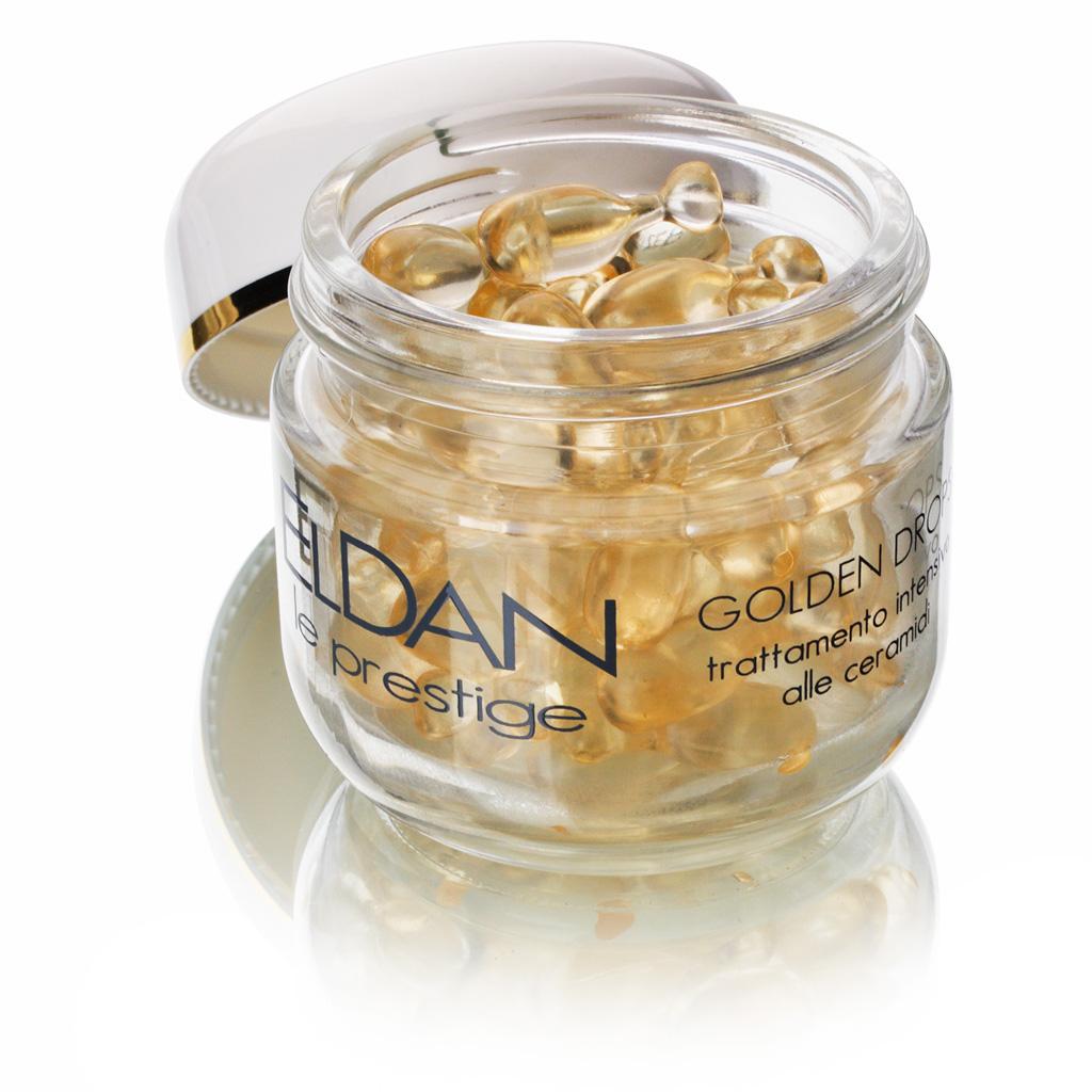 ELDAN cosmetics Золотые капли с церамидами для лица Le Prestige, 60 шт eldan крем для рук с прополисом eldan le prestige body care eld s 60 250 мл