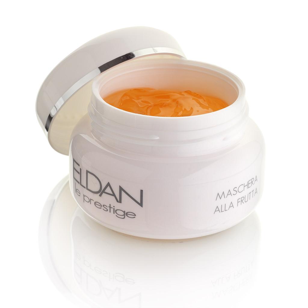 ELDAN cosmetics Фруктовая маска для лица Le Prestige, 100 млELD-26Маска-гель нежной тающей текстуры обладает увлажняющим, противовоспалительным смягчающим и капилляроукрепляющим действием. Мгновенно снимает красноту и дискомфорт при солнечных ожогах, после гликолевых пилингов и мезотерапии. Устраняет шелушение и раздражение, восстанавливает естественный уровень увлажненности кожи, повышает ее тонус.