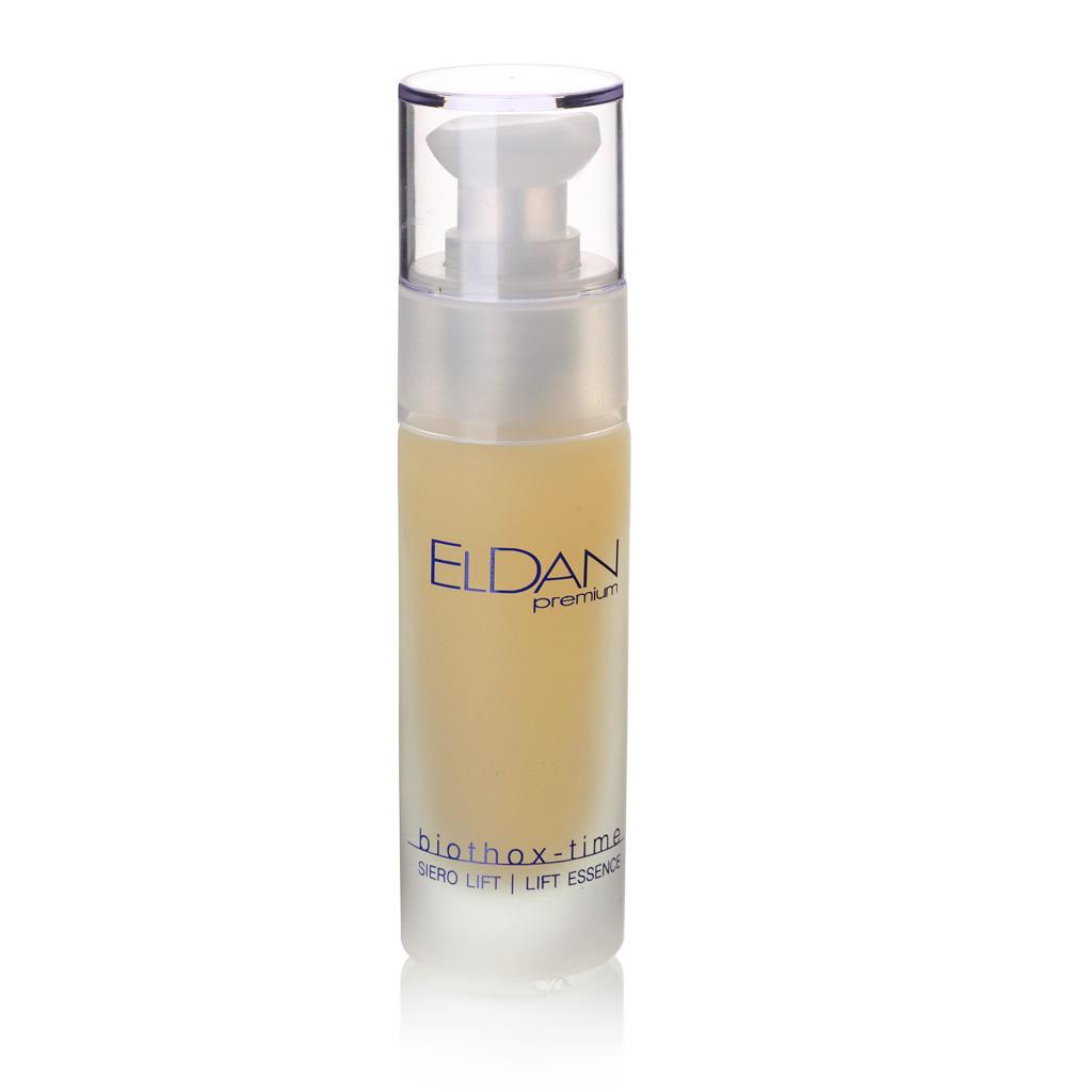 ELDAN cosmetics Лифтинг- сыворотка для лица Premium biothox time, 30 млELD-149Легкая сыворотка предназначена для антивозрастного ухода за любым типом кожи с выраженными мимическими мор-щинами. Входящие в состав средства экстракт дрожжей и пшеничные протеины увлажняют и смягчают кожу, ускоряют клеточную регенерацию и стимулируют выработку коллагена. Ферменты лактобактерий восстанавливают естественные механизмы кожной защиты, уменьшая признаки гиперчувствительности. Миорелаксант - аргирелин расслабляет мими-ческую мускулатуру, уменьшая количество и глубину морщин. При регулярном применении сыворотки лицо приобретает свежий, молодой и ухоженный вид.