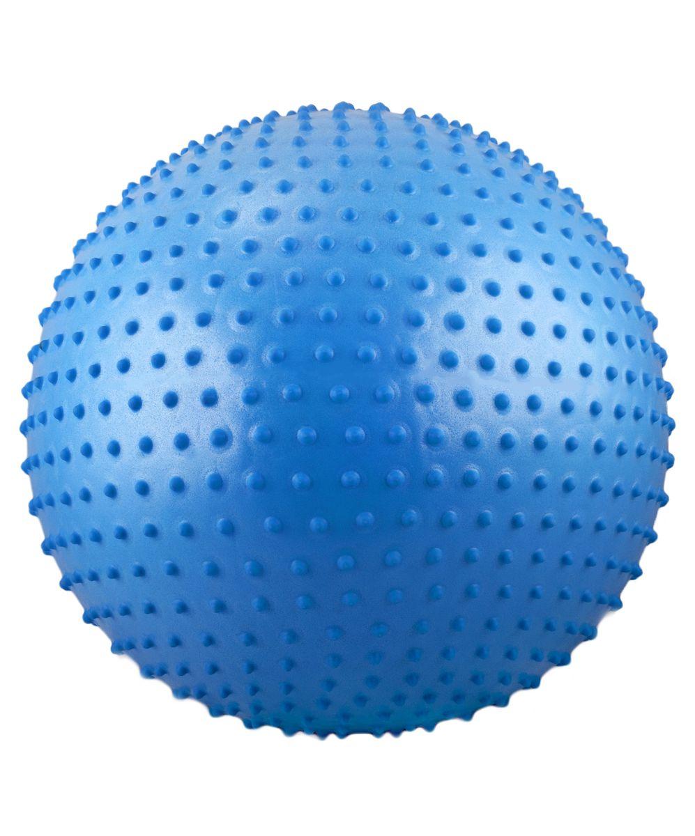 Мяч гимнастический Starfit, антивзрыв, массажный, цвет: синий, диаметр 65 см эспандеры starfit эспандер starfit es 702 power twister черный 50 кг