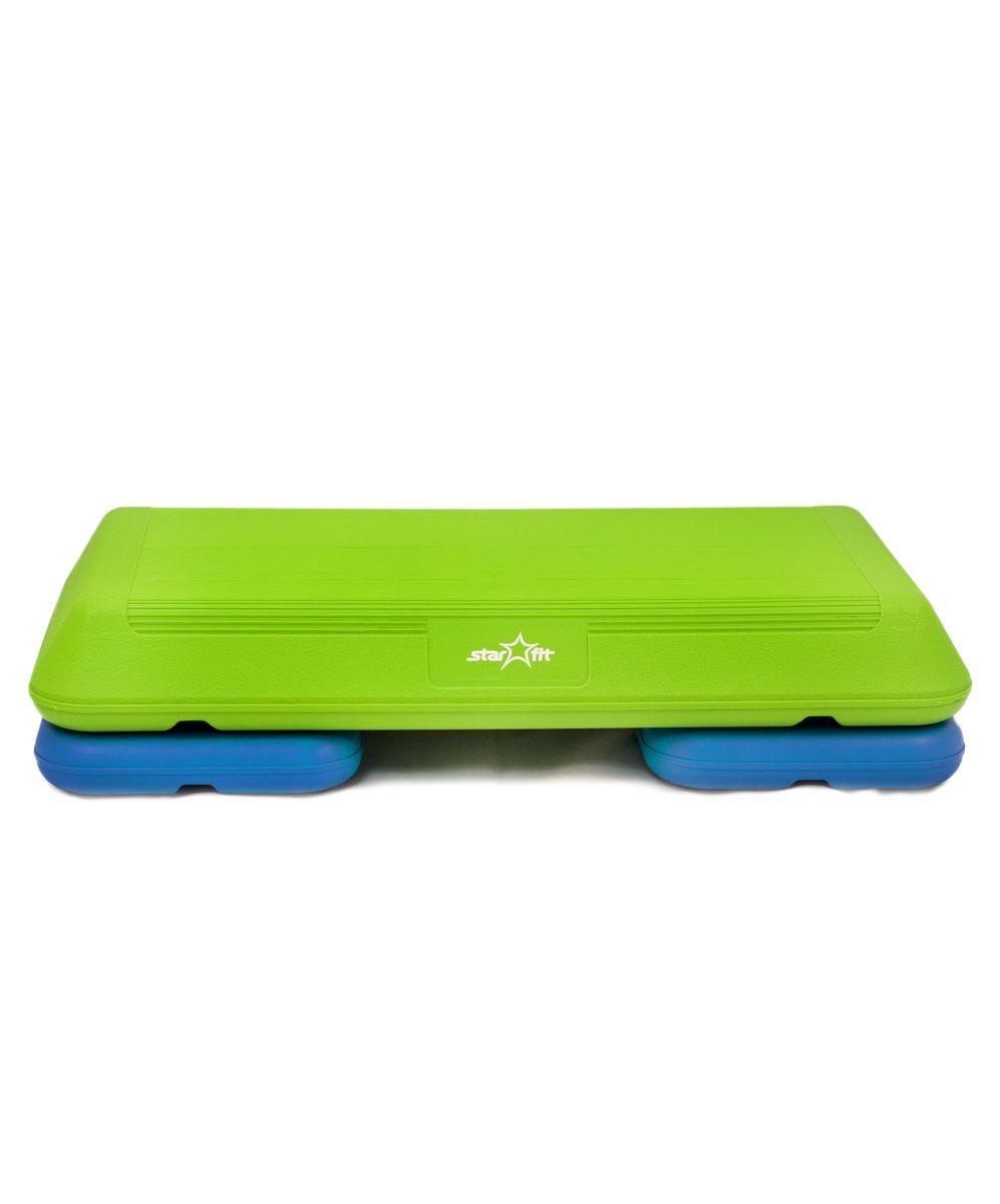 Степ-платформа Starfit SP-102, 2-уровневая, 72 х 36,5 х 15 смУТ-00007261Степ-платформа SP-102 предназначена для занятий аэробикой в фитнес-клубах, спортивных залах и для домашнего использования. С помощью тренажера можно оптимизировать нагрузку на мышцы ног и ягодиц, сделать мышцы тела подтянутыми и стройными. За счет высокоинтенсивной тренировки на степе, можно наладить работу сердечно-сосудистой системы. Степ-платформа один из самых популярных аксессуаров в фитнесе. Тренажер используют в функциональном тренинге, бодибилдинге, групповых программах. Количество уровней: 2. Высота платформы с уровнями: 10+0/5 см.