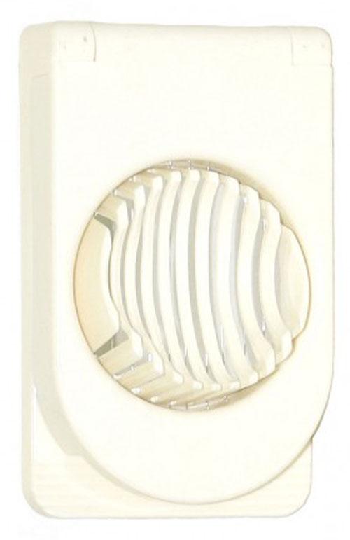 Яйцерезка МФК-профит, цвет: белыйMFK01073Яйцерезка МФК-профит выполнена из нержавеющей стали и ABS пластика. С помощью этого приспособления вы без труда сможете измельчить яйцо. Хорошо натянутые проволочки легко нарезают яйцо на кусочки равной толщины. Положите очищенное яйцо, легко нажмите на крышку с тонкими стальными струнами и аккуратно разрезанные ломтики готовы для украшения изысканных блюд на фуршете или для салата.Можно мыть в посудомоечной машине.