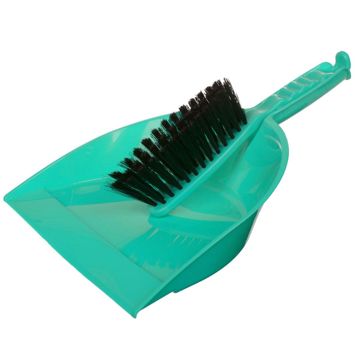 Набор для уборки Альтернатива, цвет: мятный, 2 предметаM893_мятныйНабор для уборки Альтернатива состоит из щетки-сметки и совка. Он станет незаменимым помощником в деле удаления пыли и мусора с различных поверхностей. Эластичный ворс на щетке, изготовленный из полимера, не оставит от грязи и следа. В комплекте вместительный совок углубленной формы,выполненный из прочного пластика. Удобная форма совка с бордюром, который удерживает собранный мусор, позволит эффективно и быстро совершить уборку в любом помещении. Ручка совка позволяет прикреплять его к рукоятке щетки. На рукояти изделий имеется специальное отверстие для подвешивания. Длина щетки-сметки: 27 см. Длина ворса: 5 см. Размер рабочей поверхности совка: 23,5 см х 23,5 см.Размер совка (с учетом ручки): 33,5 см х 23,5 см х 6 см.