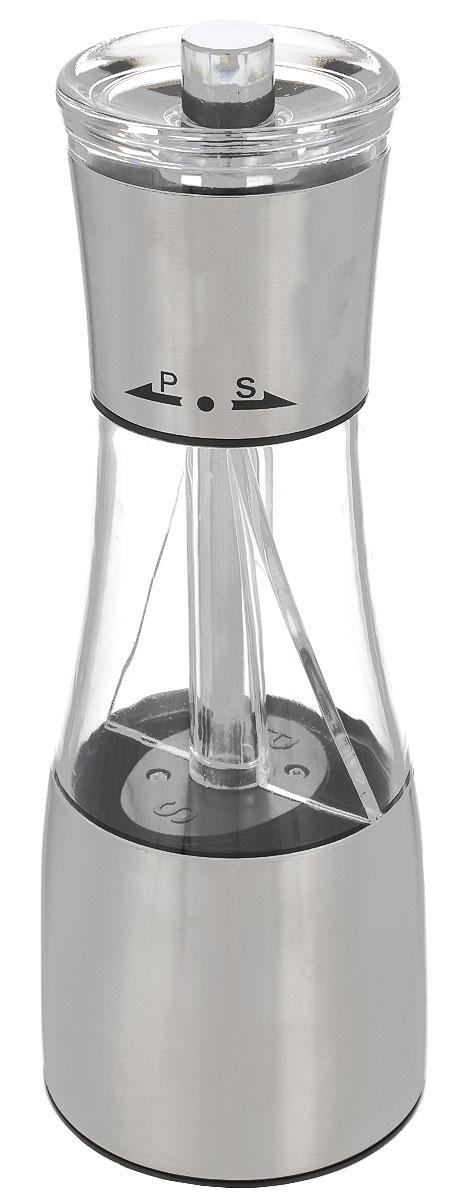 Емкость для соли и перца Bohmann7801BHЕмкость для соли и перца Bohmann с функцией помола пригодится на любой кухне. Изделие выполнено из матовой нержавеющей стали и снабжено стеклянной емкостью. Емкость двойная, что позволяет хранить внутри как соль, так и перец. Прибор предназначен для крупной соли и перца горошком. Керамический механизм помола мелко измельчает специи, при повороте направо измельчается соль, а налево - перец. Размер помола можно изменять. Емкость для соли и перца Bohmann станет прекрасным украшением стола и поможет вам в приготовлении ваших любимых блюд. Нельзя мыть в посудомоечной машине.