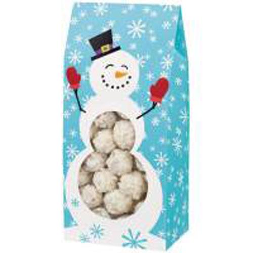 Набор бумажных пакетов для сладостей Wilton Снеговик, 21,6 см х 10 см х 7,6 см, 3 шт119060Набор Wilton Санта состоит из 3 бумажных пакетов для сладостей. Изделия украшены изображением снежинок и веселого снеговика. Пакет снабжен прозрачным окошком, что позволяет видеть содержимое. Такие пакеты прекрасно подойдут для печенья, конфет, пирожных. Сладости в такой красивой упаковке станут прекрасным новогодним подарком, который вызовет улыбку и радость у получателя.