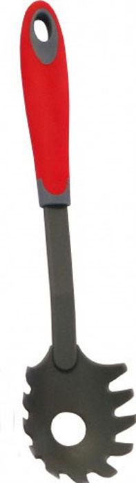 Ложка для спагетти МФК-профит Style Teflon, длина 36 смMFK01133Ложка для спагетти МФК-профит Style Teflon имеет рабочую поверхность из высококачественного нейлона. Рукоятка изготовлена из полипропилена с резиновым покрытием, которое обеспечивает надежный хват и комфортную эксплуатацию. Ложка специально предназначена для сервировки спагетти. Незаменимый аксессуар на любой кухне.Можно мыть в посудомоечной машине.Длина ложки для спагетти: 36 см. Размер рабочей поверхности: 9 см х 7 см.