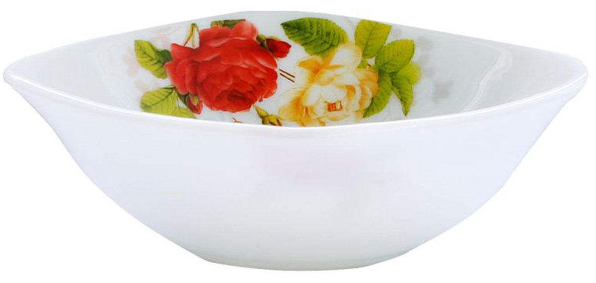 Салатник Chinbull Рона, 20,5 см х 20,5 смOFFW-90/315Салатник Chinbull Рона, выполненный из высококачественной стеклокерамики, декорирован изображением цветов. Изящный дизайн придется по вкусу и ценителям классики, и тем, кто предпочитает утонченность и изысканность. Салатник Chinbull Рона идеально подойдет для сервировки стола и станет отличным подарком к любому празднику.Размер (по верхнему краю): 20,5 см х 20,5 см.