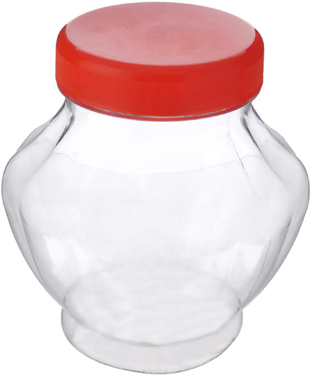 """Банка для меда """"Альтернатива"""", цвет: прозрачный, красный, 300 мл"""