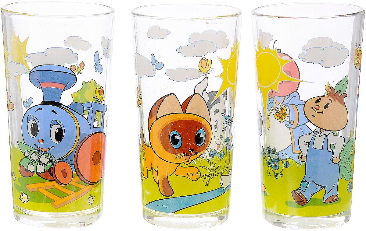 Союзмультфильм Набор детских стаканов 3 шт союзмультфильм набор детской посуды котенок по имени гав 3 предмета цвет белый мультиколор