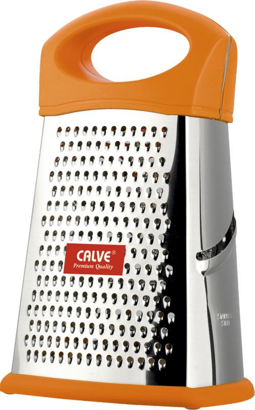 Терка Calve, многофункциональная, высота 25,5 см. CL-4156CL-4156Терка Calve, выполненная из высококачественной нержавеющей стали, оснащена удобной пластиковой ручкой. Благодаря многофункциональным формам лезвий, предназначена для различных продуктов. Ее очень удобно мыть и хранить. Специальная силиконовая накладка предотвращает скольжение во время использования и защищает поверхность от повреждений. Порадуйте себя и своих близких качественным и функциональным подарком. Каждая хозяйка оценит все преимущества этой терки. Очень практичный и современный дизайн делает изделие весьма простым в эксплуатации.Высота терки: 25,5 см.