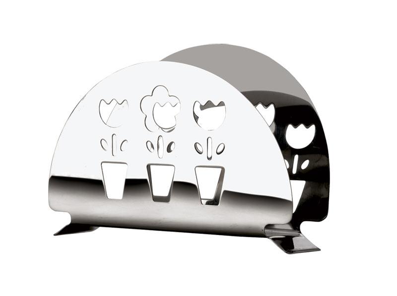 """Салфетница """"Calve"""" изготовлена из высококачественной нержавеющей стали 18/10. Эксклюзивный дизайн, эстетичность и функциональность сделают ее красивым дополнением сервировки стола и полезным приобретением для вашей кухни.  Изделие можно мыть в посудомоечной машине."""