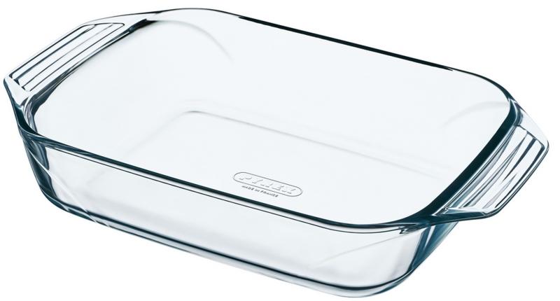 Форма для запекания Pyrex Optimum, 35 x 23 х 6 см408B000Прямоугольная форма для запекания Pyrex Optimum изготовлена из жаропрочного стекла, которое выдерживает температуру до +300°С. Форма предназначена для приготовления горячих блюд и оснащена двумя ручками. Материал изделия гигиеничен, прост в уходе и обладает высокой степенью прочности. Форма идеально подходит для использования в духовках, микроволновых печах, холодильниках и морозильных камерах.