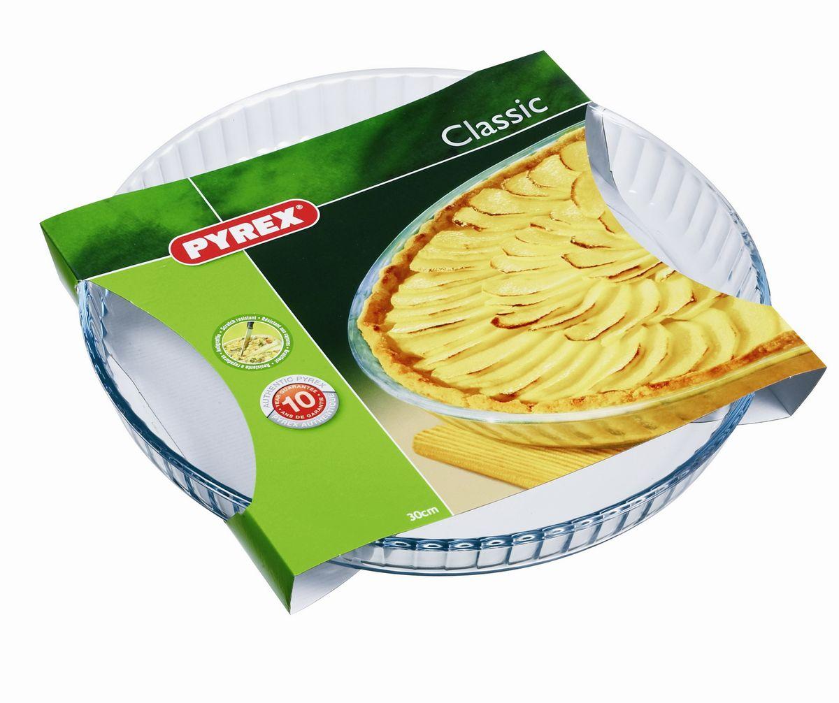 Форма для выпечки Pyrex Classic, круглая, диаметр 27 см. 813B000 форма для выпечки pyrex форма для запекания metal classic pyrex 34 см