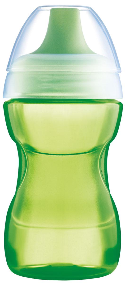 MAM Поильник-непроливайка от 8 месяцев цвет зеленый 270 мл
